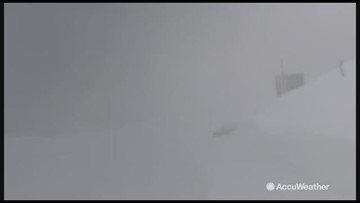 Reed Timmer battles blinding whiteout conditions