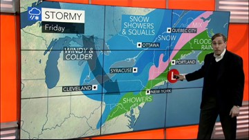 Storm moves out of East but wind and cold remain