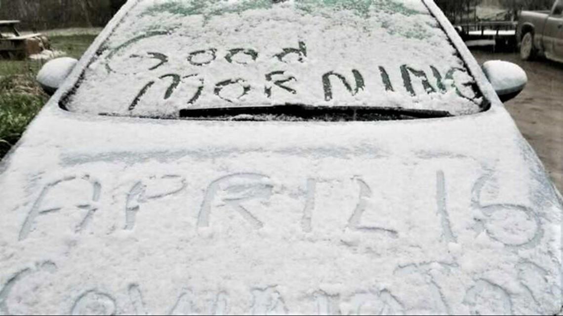 Midspring snowfall coats the Northeast