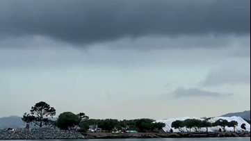 Waterspout spotted offshore