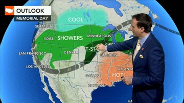 Weather may spoil Memorial Day from Midwest to Intermountain West