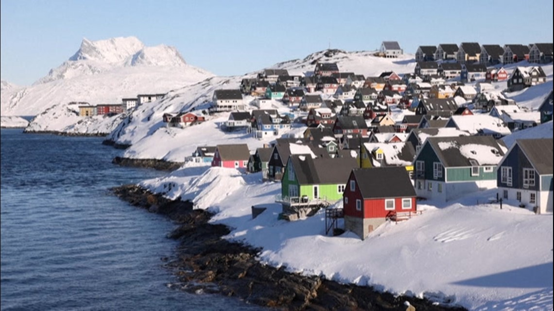 Greenland's capital city of Nuuk looks idyllic during winter