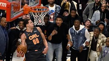 Miami Heat's Derrick Jones Jr. wins slam dunk contest