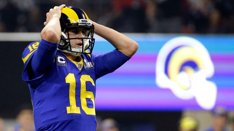 Patriots Rams Super Bowl Football Goff