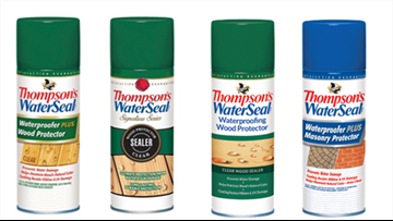 Thompson's WaterSeal Waterproofing aerosol cans recalled for fire hazard
