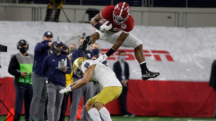 Alabama hurdles Notre Dame 31-14 in Rose Bowl; advances to CFP title game