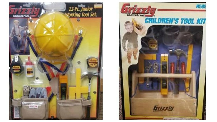 Toy tool kits recalled for excessive lead, safety standards