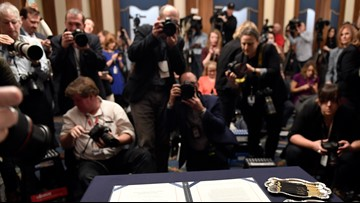 Reporters 'vigorously' protest potential restrictions of impeachment coverage