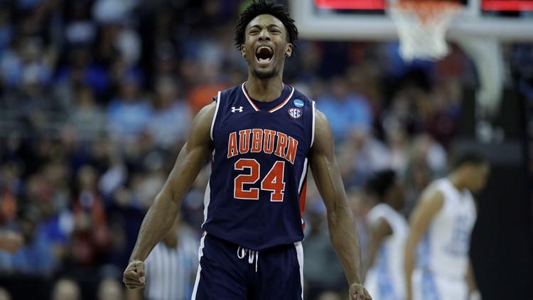 Auburn North Carolina Basketball upset win Sweet 16