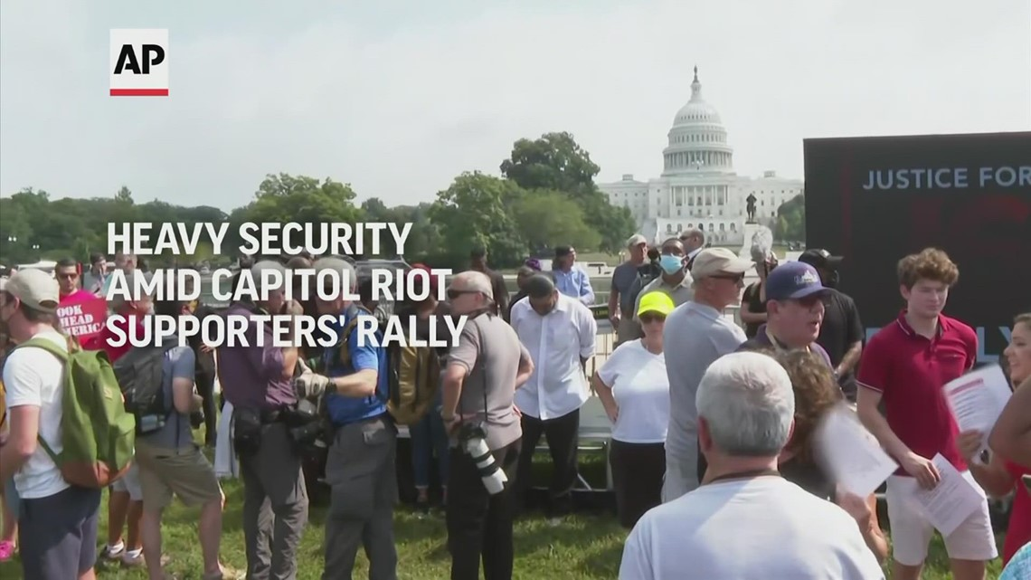 Heavy security among Capitol riot supporters' rally