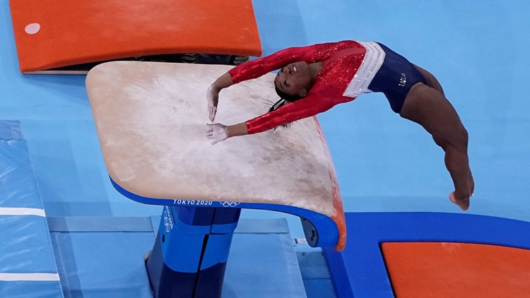 Simone Biles posts new training video to explain why she dropped out