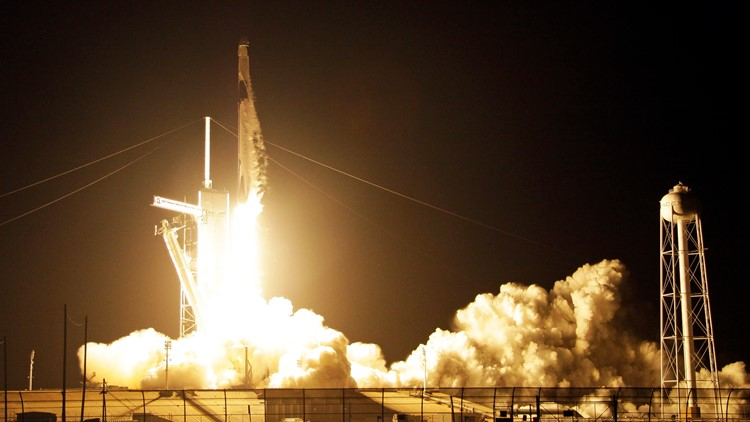 SpaceX Crew Capsule liftoff March 2