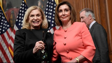 Pelosi doles out impeachment pens, a signing tradition