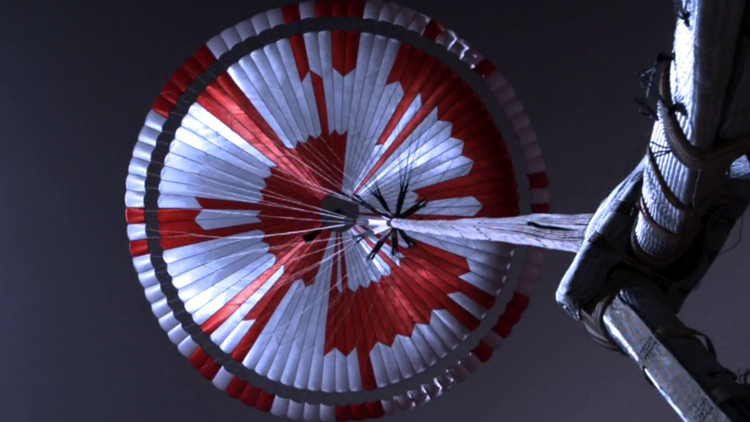 NASA hid a secret message in the Mars rover's parachute. Someone solved it in a couple hours.