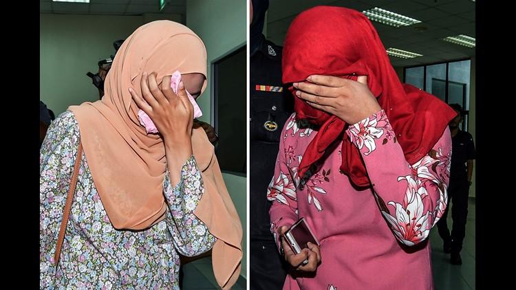 Malaysian Muslim lesbian couple caned in public punishment