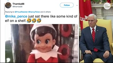 Twitter pokes fun at Pence as 'Elf on the Shelf'