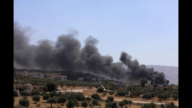 War monitor says blasts in Syria airport killed 2