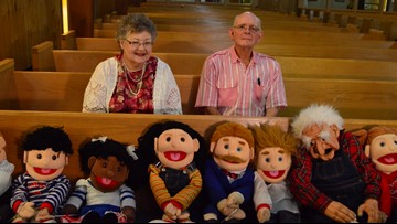 'We've been called to do this': Couple brings puppet show to the pews of local church