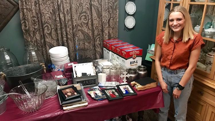 2019 high school graduate Karly Siedschlag is among Isaiah Tuckett's cupcake customers