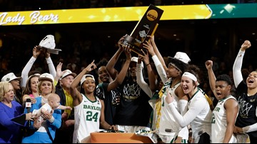 East Central grad shines in Baylor's 82-81 win over Notre Dame in women's basketball title game.