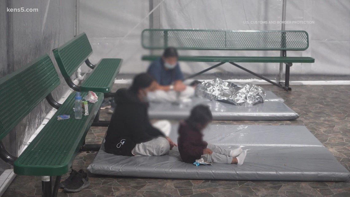 A look inside a temporary migrant-holding facility in south Texas