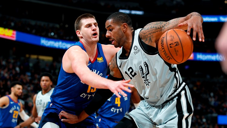 Spurs play Nuggets