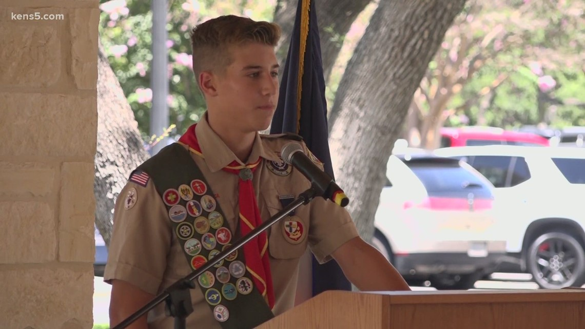 15-year-old Eagle Scout creates monument for three fallen soldiers from Shavano Park