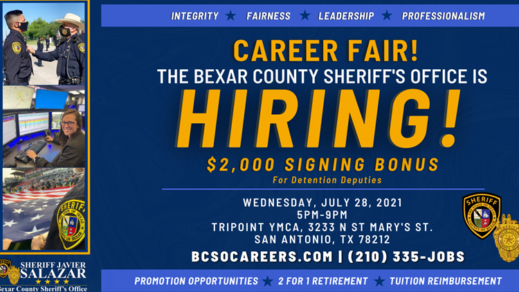 BCSO offers $2,000 signing bonus to detention deputies, job fair taking place July 28