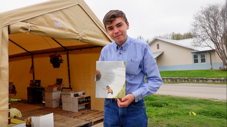 Cinnamon whipped honey?! Meet the 16-year-old beekeeper who started his own business