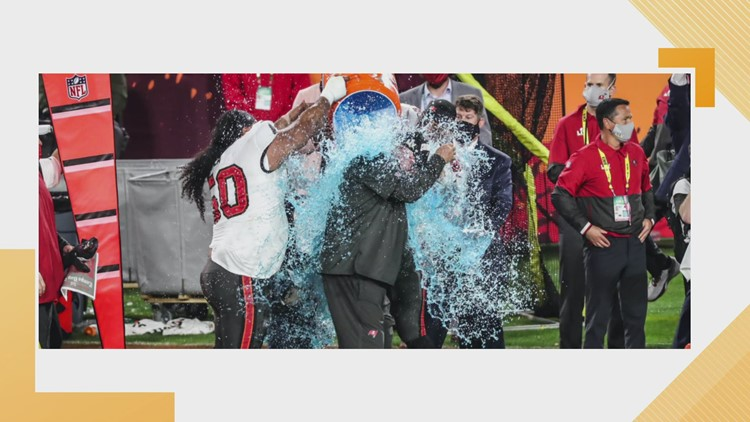 Did you miss it? The Super Bowl's 'Gatorade shower' wasn't shown, but here it is