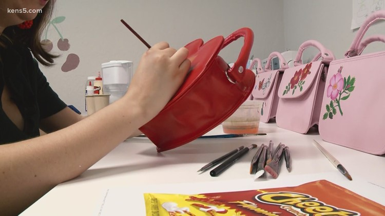 San Antonio woman uses love of art and accessories to create unique handbags 👜   Made in SA