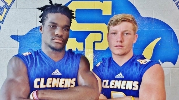 FBH Clemens linebacker Derrick Lewis and quarterback Max Didomenico