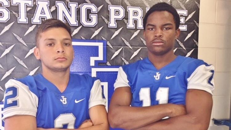 FBH Jay quarterback Danny Amezquita and safety Justyce Sheridan