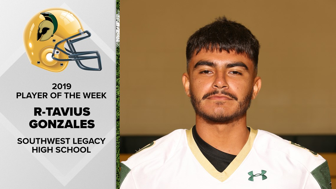 R.T. Gonzales is program builder for Southwest Legacy | FNF Player of the Week