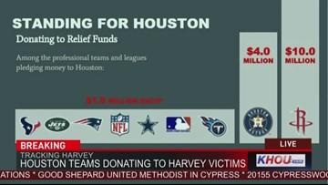 Sports teams donate millions to help Houston