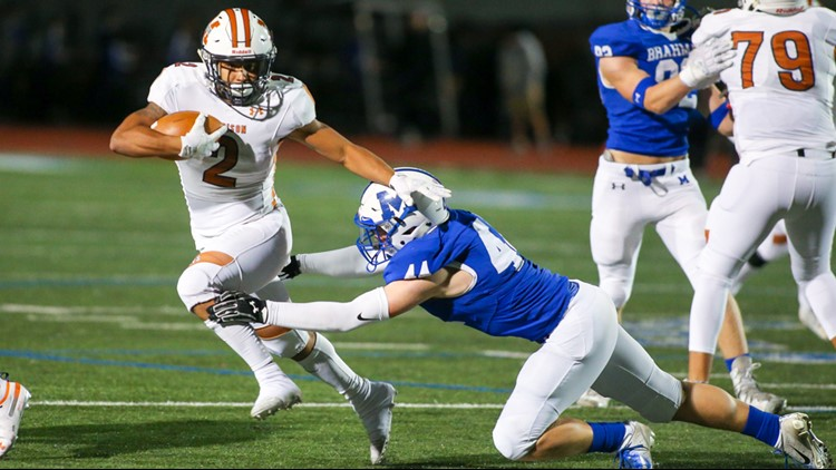 FBH Madison running back Darien Gill on the go against MacArthur in 2019