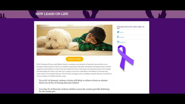 Domestic violence nonprofit raising money for pet shelter