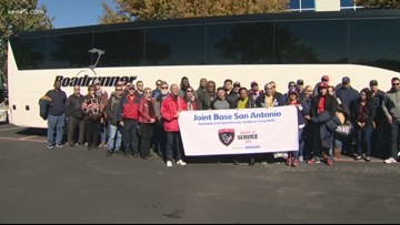 Veterans attend 'Salute to Service' NFL game