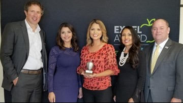 Leslie Galvan wins KENS 5 Credit Human EXCEL award for Medina Valley ISD