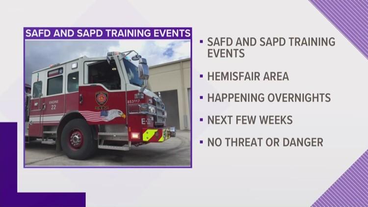 SAFD to hold training exercises near Hemisfair