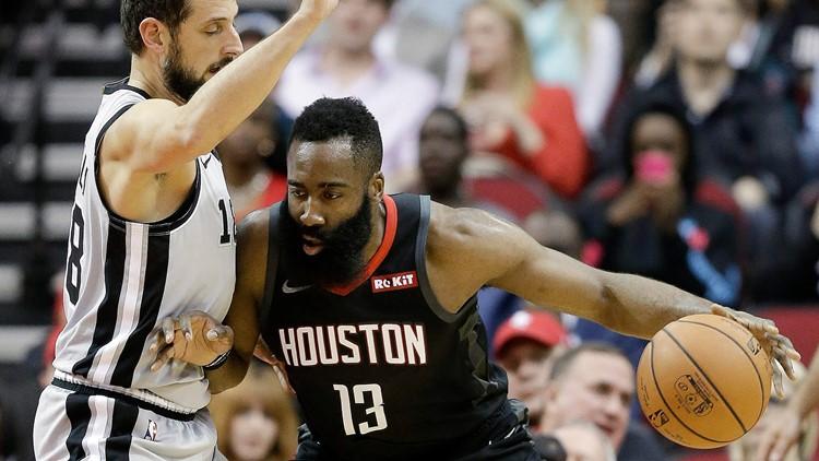 Spurs play Rockets in Houston