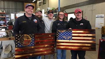 Flag building event honors military, first responders | Mission SA