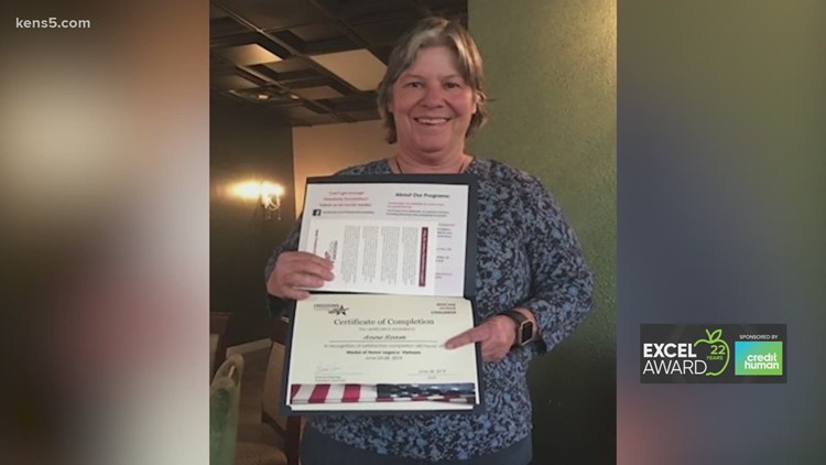 Anne Ream wins KENS 5 EXCEL award for Judson ISD
