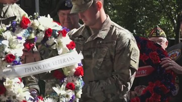 SA honors veterans with wreath ceremony, parade