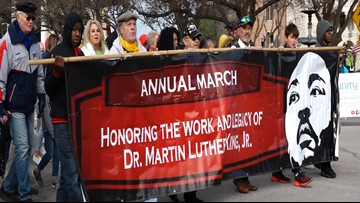 'We must be unified': New Braunfels MLK March draws hundreds downtown