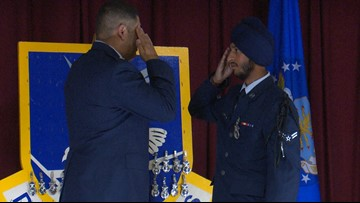A historic first: Sikh airman paves new road after completing basic training with religious accommodations at Lackland AFB