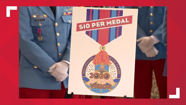 Fiesta River Parade medal