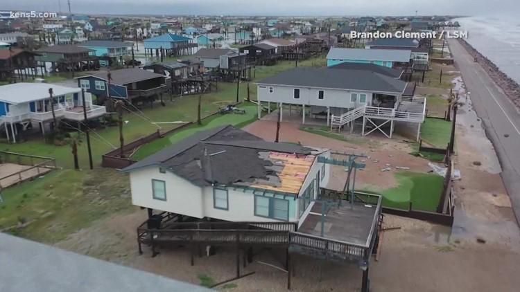 VIDEO of Hurricane Nicholas on Texas Coast   Now a Tropical Depression