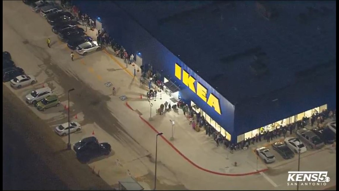 Thousands Brave Cold Weather For Ikea Opening In Northeast