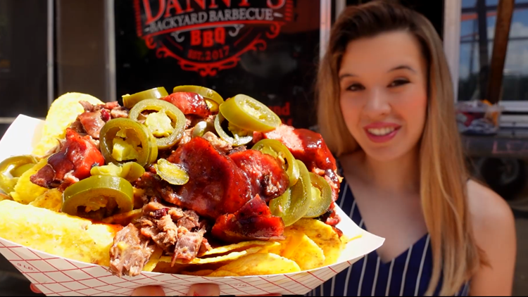 These nachos are nearly TWO pounds at this San Antonio food truck